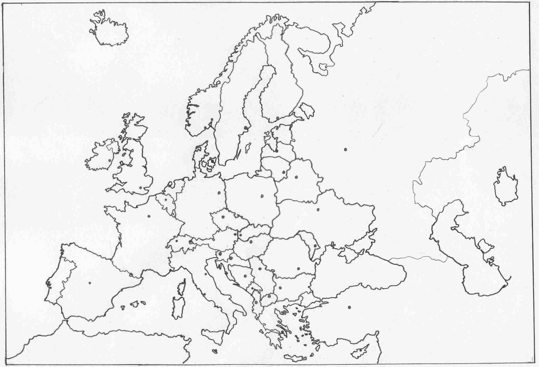 mapa de europa vacio my blog