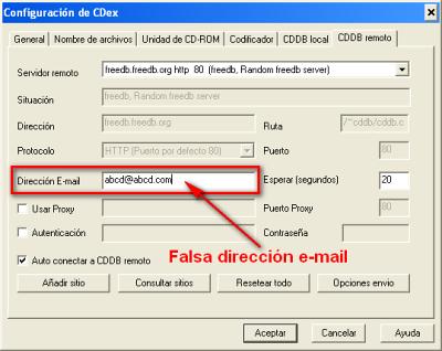 CDex, configuración