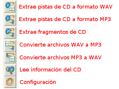 CDex, iconos del programa