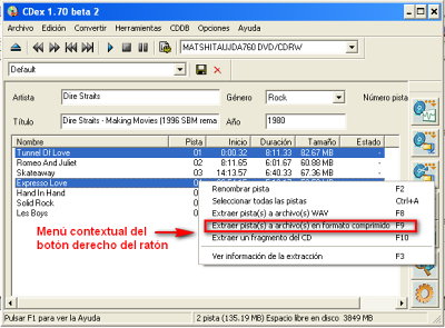 CDex, ripear pistas de audio