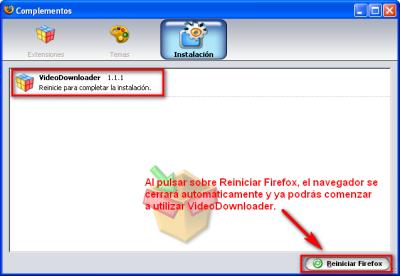 Herramientas - Complementos Firefox