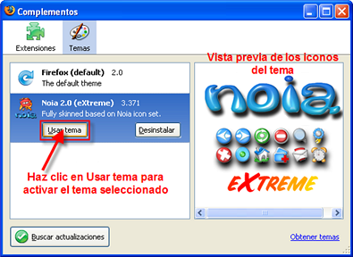 Firefox, complementos