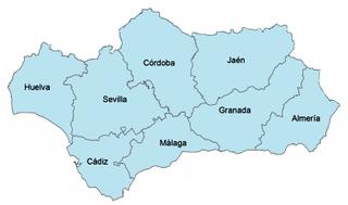Provincias andaluzas PROVINCIASN HABITANTES CAPITAL Aprox